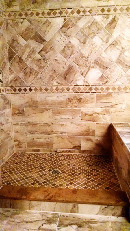 Ceramic Tile Shower Enclosure