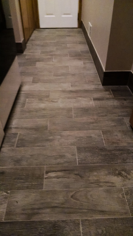 Wood Look Ceramic Tile Installation