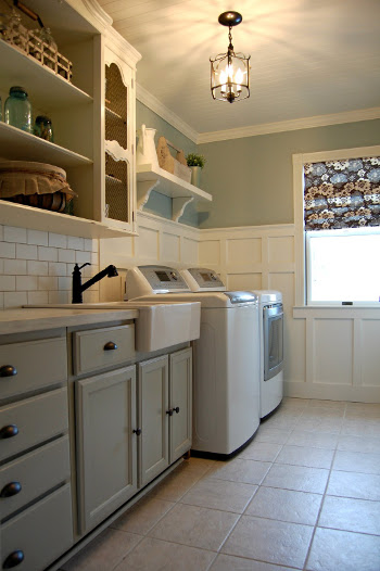 Ceramic Tile in Laundry Room